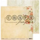 Лист бумаги для скрапбукинга CraftPaper ШИПОВНИК коллекция Золотая осень 30х30см