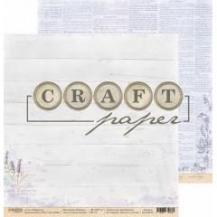 Лист бумаги для скрапбукинга CraftPaper СЧАСТЬЕ ВНУТРИ коллекция Прованс 30х30см