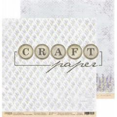 Лист бумаги для скрапбукинга CraftPaper ПОЛЯ ПРОВАНСА коллекция Прованс 30х30см