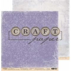 Лист бумаги для скрапбукинга CraftPaper СИРЕНЕВЫЕ СНЫ коллекция Прованс 30х30см
