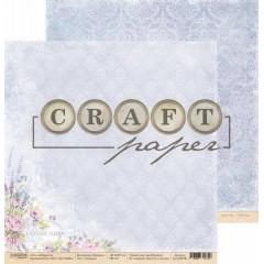 Лист бумаги для скрапбукинга CraftPaper ЛАВАНДА коллекция Прованс 30х30см