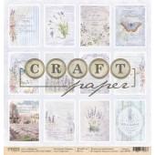 Лист бумаги для скрапбукинга CraftPaper КАРТОЧКИ коллекция Прованс 30х30см
