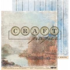Лист бумаги для скрапбукинга CraftPaper СТАРЫЙ ГОРОД коллекция Путевой дневник 30х30см