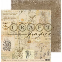 Лист бумаги для скрапбукинга CraftPaper СРЕДНЕВЕКОВЬЕ коллекция Алхимия 30х30см