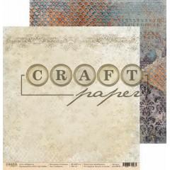 Лист бумаги для скрапбукинга CraftPaper СИМВОЛЫ коллекция Алхимия 30х30см