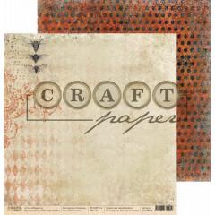 Лист бумаги для скрапбукинга CraftPaper НАСЕКОМЫЕ коллекция Алхимия 30х30см