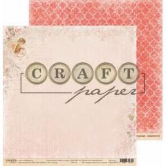 Лист бумаги для скрапбукинга CraftPaper АМУР коллекция Стрелы Амура 30х30см