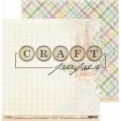 Лист бумаги для скрапбукинга CraftPaper С НАСТУПАЮЩИМ коллекция Голубой огонек 30х30см