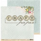 Лист бумаги для скрапбукинга CraftPaper ВОЛШЕБСТВО коллекция Голубой огонек 30х30см