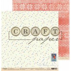 Лист бумаги для скрапбукинга CraftPaper СНЕЖКИ коллекция Голубой огонек 30х30см