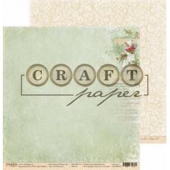 Лист бумаги для скрапбукинга CraftPaper СОЧЕЛЬНИК коллекция Рождество 30х30см