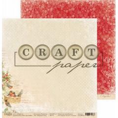 Лист бумаги для скрапбукинга CraftPaper МОРОЗНАЯ НОЧЬ коллекция Рождество 30х30см