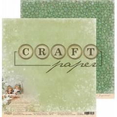Лист бумаги для скрапбукинга CraftPaper ЗИМНИЕ КАНИКУЛЫ коллекция Рождество 30х30см