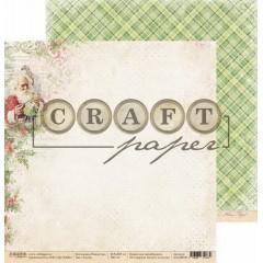 Лист бумаги для скрапбукинга CraftPaper САНТА коллекция Рождество 30х30см