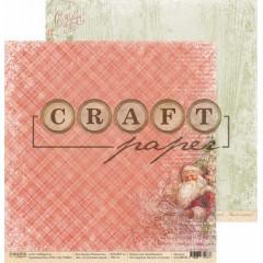 Лист бумаги для скрапбукинга CraftPaper СЧАСТЛИВАЯ ЗВЕЗДА коллекция Рождество 30х30см