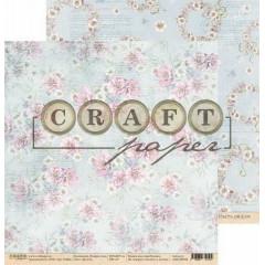 Лист бумаги для скрапбукинга CraftPaper БУКЕТЫ коллекция В мире снов 30х30см