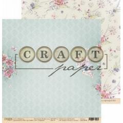 Лист бумаги для скрапбукинга CraftPaper ЭЛЬФИЙКА коллекция В мире снов 30х30см