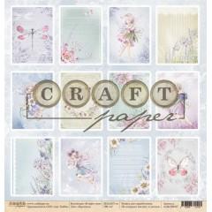 Лист бумаги для скрапбукинга CraftPaper КАРТОЧКИ коллекция В мире снов 30х30см