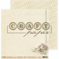 Лист бумаги для скрапбукинга CraftPaper КРОЛИКИ коллекция Пасха 30х30см
