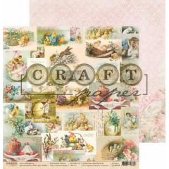 Лист бумаги для скрапбукинга CraftPaper СВЕТЛАЯ ПАСХА коллекция Пасха 30х30см