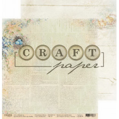 Лист бумаги для скрапбукинга CraftPaper НЕЗАБУДКИ коллекция Пасха 30х30см