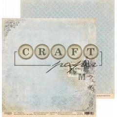 Лист бумаги для скрапбукинга CraftPaper ПОГОЖИЙ ДЕНЬ коллекция Джентельмен 30х30см