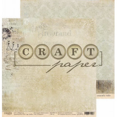 Лист бумаги для скрапбукинга CraftPaper ШАХМАТЫ коллекция Джентельмен 30х30см