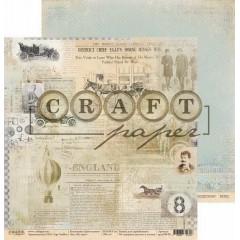 Лист бумаги для скрапбукинга CraftPaper ИЗ ГАЗЕТ коллекция Джентельмен 30х30см