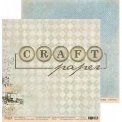 Лист бумаги для скрапбукинга CraftPaper СЛОЖНЫЙ ПУТЬ коллекция Джентельмен 30х30см