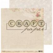 Лист бумаги для скрапбукинга CraftPaper МЕШКОВИНА коллекция Бабушкин сундук 30х30см
