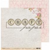 Лист бумаги для скрапбукинга CraftPaper НАТУРАЛЬНЫЙ ЛЕН коллекция Бабушкин сундук 30х30см