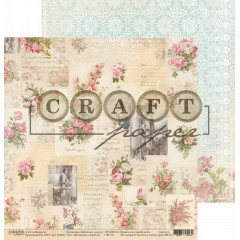 Лист бумаги для скрапбукинга CraftPaper ВИНТАЖНЫЕ ОТКРЫТКИ коллекция Бабушкин сундук 30х30см