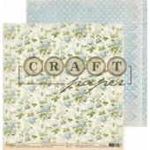 Лист бумаги для скрапбукинга CraftPaper ХЛОПОК коллекция Бабушкин сундук 30х30см