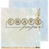 Лист бумаги для скрапбукинга CraftPaper НАРЦИССЫ коллекция Первоцветы 30х30см