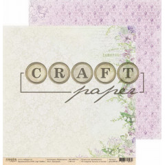 Лист бумаги для скрапбукинга CraftPaper ЛАНДЫШИ коллекция Первоцветы 30х30см
