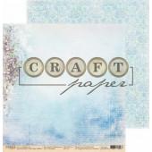 Лист бумаги для скрапбукинга CraftPaper ПОЛДЕНЬ коллекция Первоцветы 30х30см