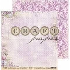 Лист бумаги для скрапбукинга CraftPaper НАПИШИ МНЕ коллекция Первоцветы 30х30см
