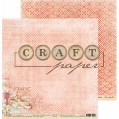 Лист бумаги для скрапбукинга CraftPaper BON APPETIT коллекция Любимые рецепты 30х30см
