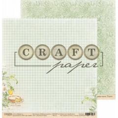 Лист бумаги для скрапбукинга CraftPaper ЛИМОННЫЙ ПИРОГ коллекция Любимые рецепты 30х30см