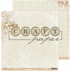 Лист бумаги для скрапбукинга CraftPaper КРУПЫ коллекция Любимые рецепты 30х30см