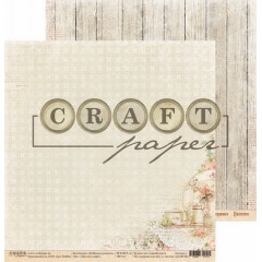 Лист бумаги для скрапбукинга CraftPaper ЧАЙ ИЛИ КОФЕ? коллекция Любимые рецепты 30х30см