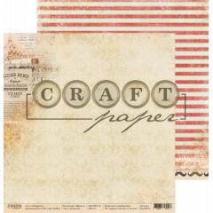 Лист бумаги для скрапбукинга CraftPaper ДЕТЕКТИВ коллекция Шерлок 30х30см