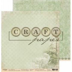Лист бумаги для скрапбукинга CraftPaper РАССЛЕДОВАНИЕ коллекция Шерлок 30х30см