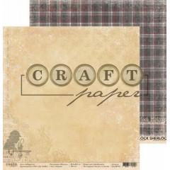Лист бумаги для скрапбукинга CraftPaper ЗАГАДКА коллекция Шерлок 30х30см