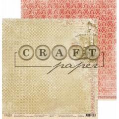 Лист бумаги для скрапбукинга CraftPaper ЛОНДОН коллекция Шерлок 30х30см