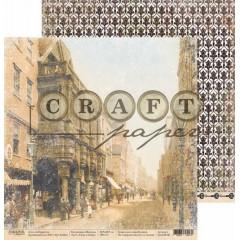 Лист бумаги для скрапбукинга CraftPaper УЗКИЕ УЛОЧКИ коллекция Шерлок 30х30см