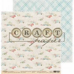 Лист бумаги для скрапбукинга CraftPaper ГОНКИ коллекция Про мальчиков 30х30см