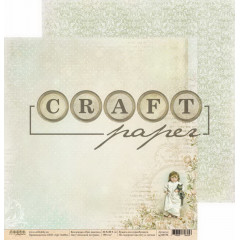 Лист бумаги для скрапбукинга CraftPaper БОСИКОМ ПО ТРАВЕ коллекция Про девочек 30х30см
