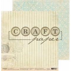 Лист бумаги для скрапбукинга CraftPaper ВОЗДУШНЫЙ ШАР коллекция Bon Voyage 30х30см