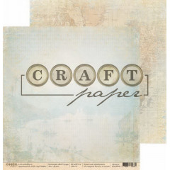 Лист бумаги для скрапбукинга CraftPaper БУХТА коллекция Bon Voyage 30х30см